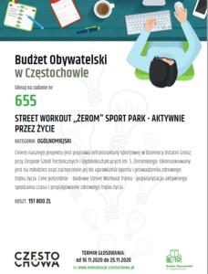 Plakat Budżet obywatelski w Częstochowie - zadanie 655
