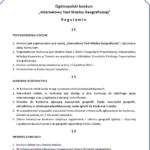Regulamin konkursu wiedzy geograficznej cz1
