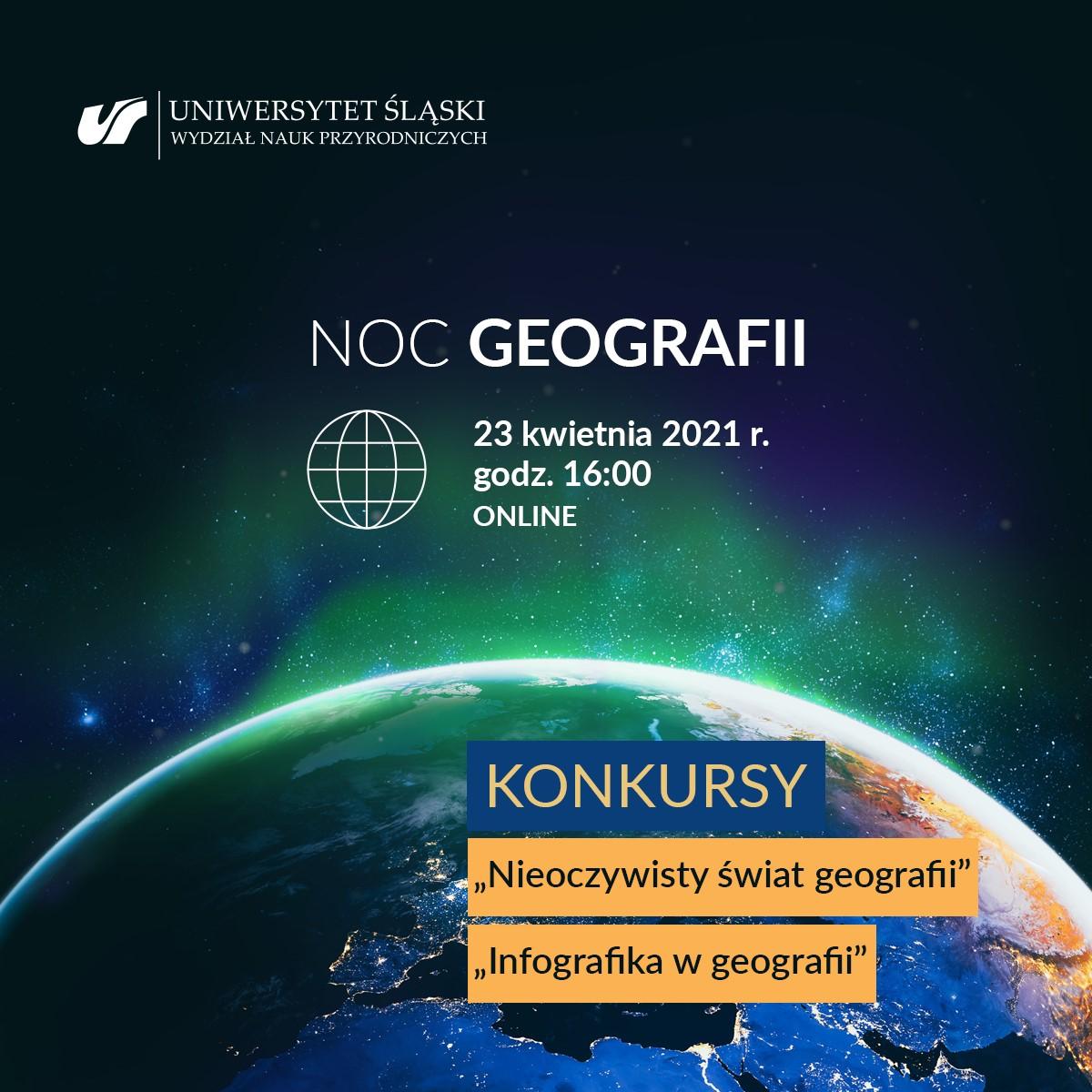 Plakat NOC GEOGRAFII 2021
